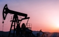 pumpjacks at sunset