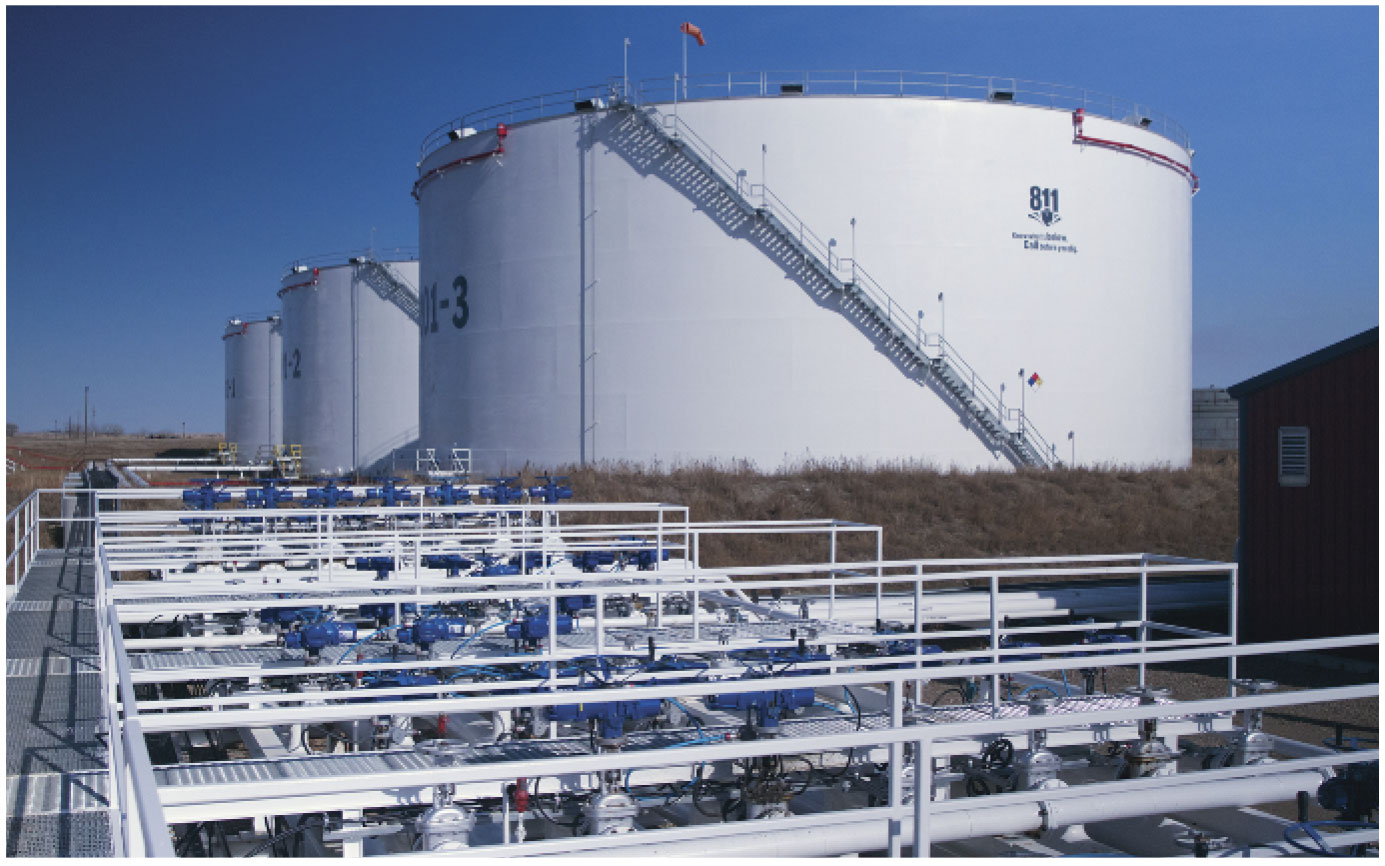 Crude oil storage capacity