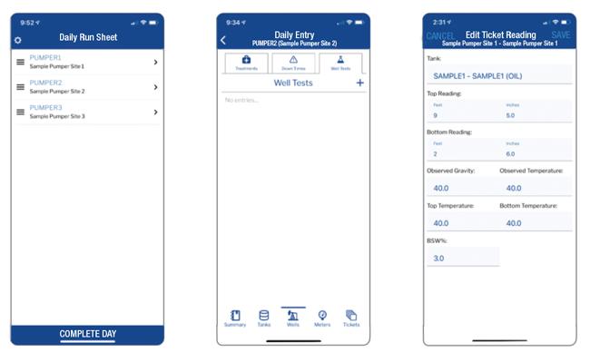 WolfePak mobile app screenshots