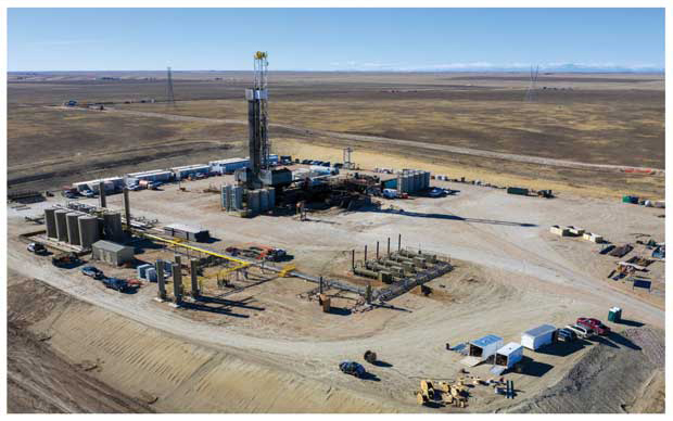 Bison Oil & Gas II drilling pad