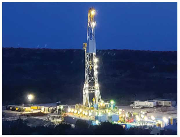 Barron Petroleum drilling pad