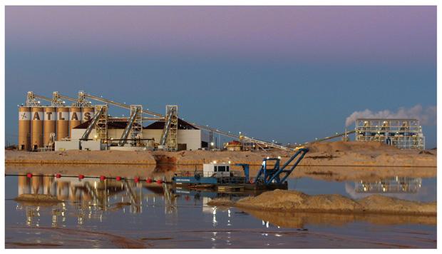 Atlas Sand dredging work