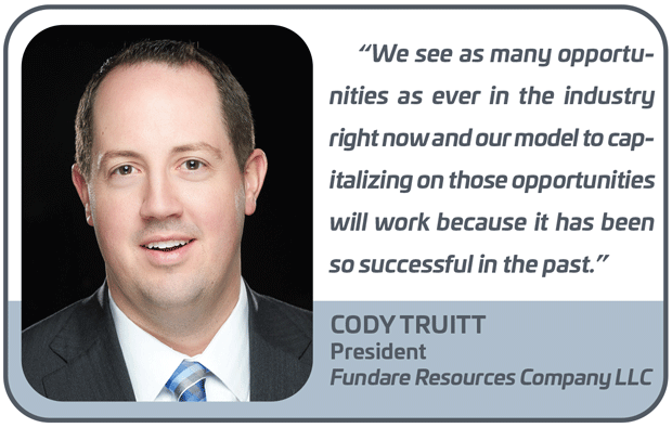 Cody Truitt, President, Fundare Resources Company LLC