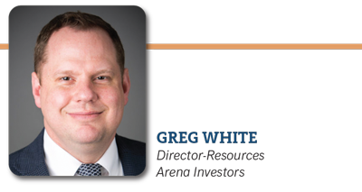 Greg White, Director Resources Arena Investors