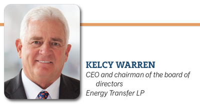 Kelcy Warren, CEO and chairman of the board of directors Energy Transfer LP