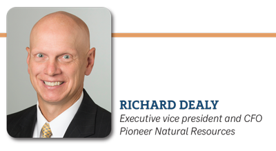 Richard Dealy, Executive vice president and CFO Pioneer Natural Resources