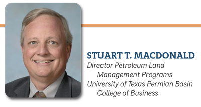 Stuart T. MacDonald, Director of Petroleum Land Management Programs UTPB College of Business