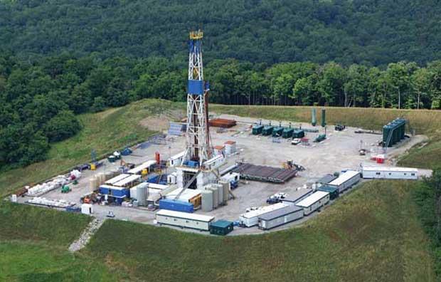 Range Resources drilling rig