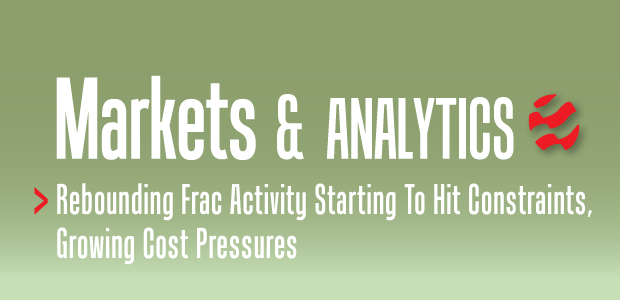 Markets & Analytics: Rebounding Frac Activity Starting To Hit Constraints, Growing Cost Pressures