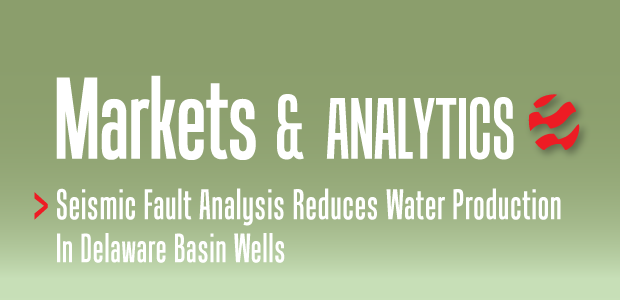 Markets & Analytics header: Seismic Fault Analysis Reduces Water Production in Delaware Basin Wells