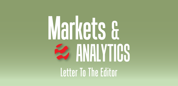 Markets & Analytics: Letter To The Editor