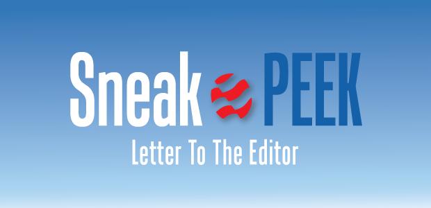 Sneak Peek: Letter To The Editor