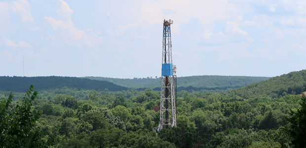 rig among top of trees