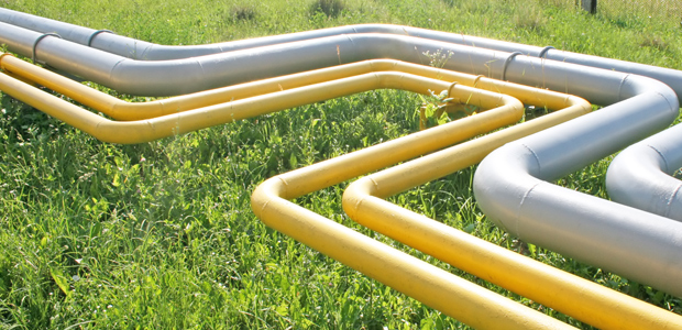 natural gas pipeline in grass